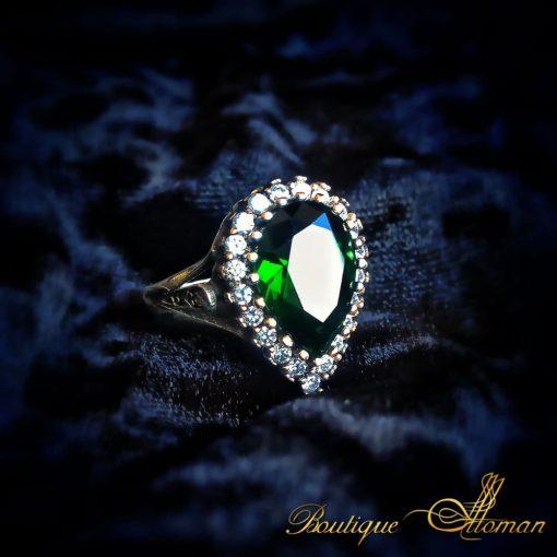 Emerald Hurrem Sultan Ring