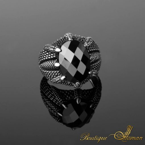 925 Silver Man Rings Eagle Claw