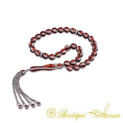 Red Mina Silver Misbaha-1