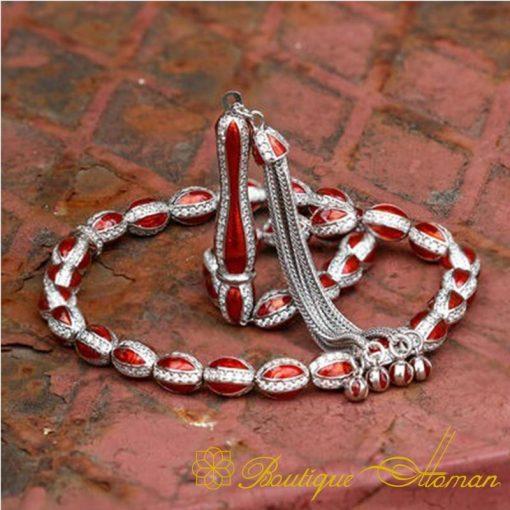 Red Mina Silver Misbaha-3