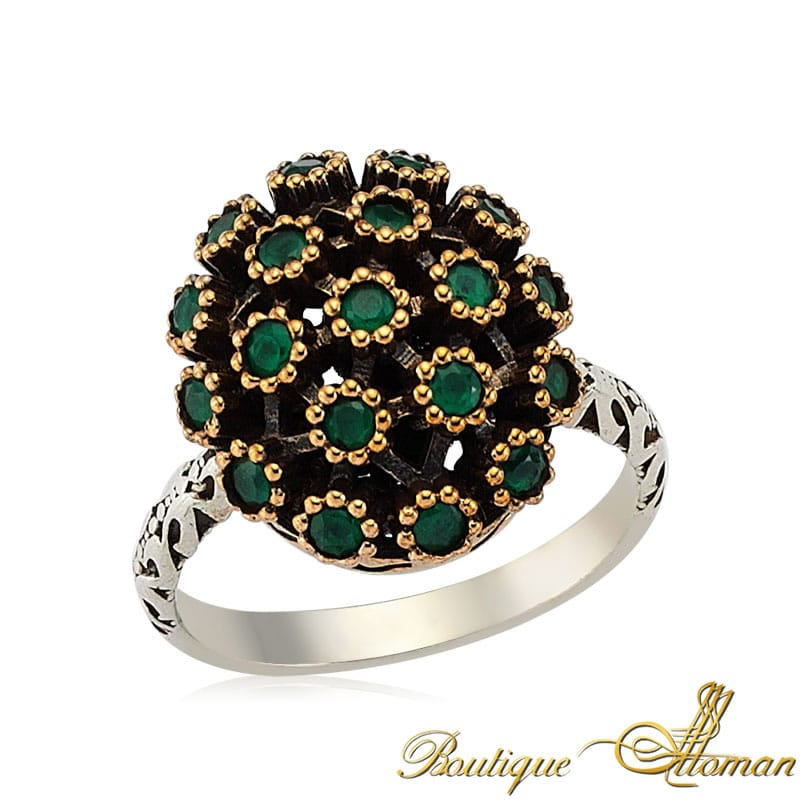 authentic emerald ring by boutique ottoman
