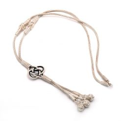 silver knot small necklace