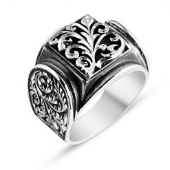 Handmade silver men ring