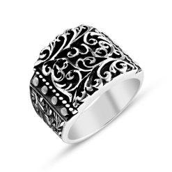 silver handmade men ring