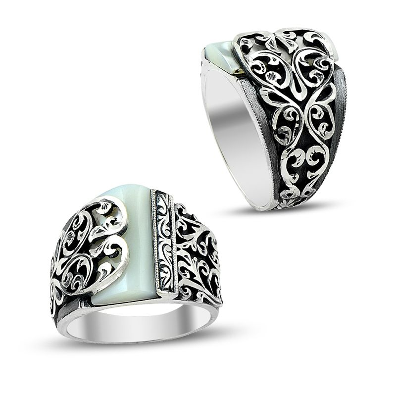 charm handmade silver ring 7006 boutique ottoman