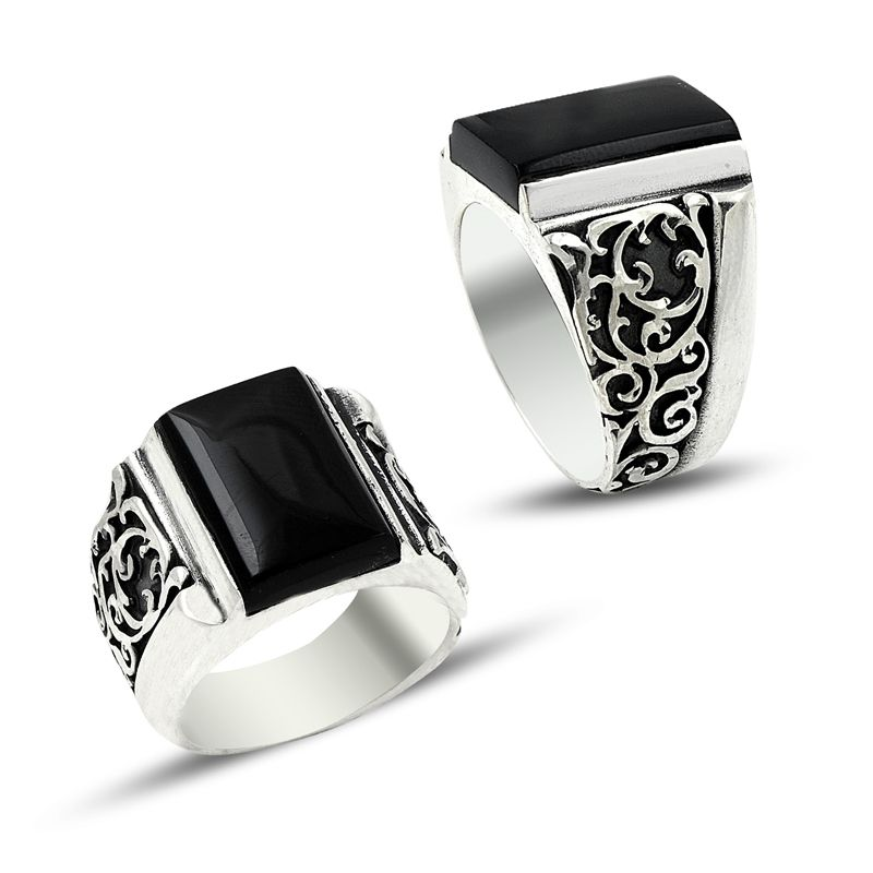 Charm Handmade Men Silver Ring 7009 - Boutique Ottoman Jewelry Store