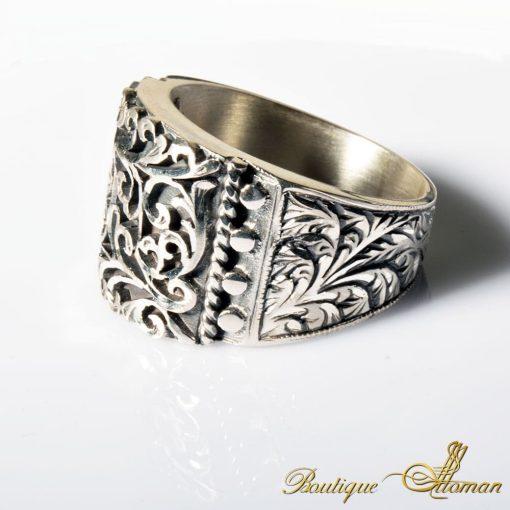 Charm Handmade Men Silver Ring 7004