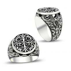hand made silver men ring