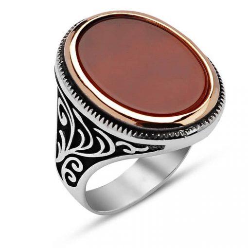 Classic Aqeeq Silver Men Ring