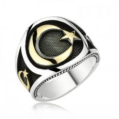 Crescent Star Islamic Ring