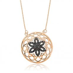 Flower Of Life Black Star Pendant