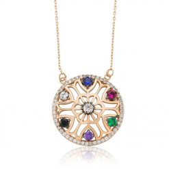 flower of life colorful pendant