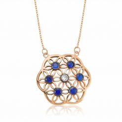 flower of life blue pendant