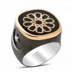 Seljuk Sun Silver Men Ring