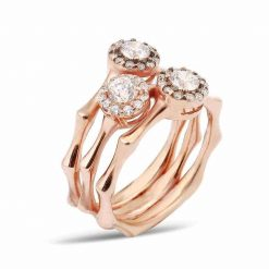 Triple stone women ring