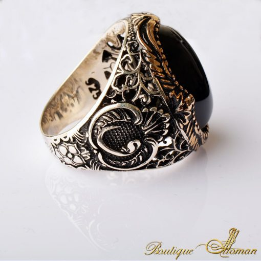 Onyx Classic Silver Ring