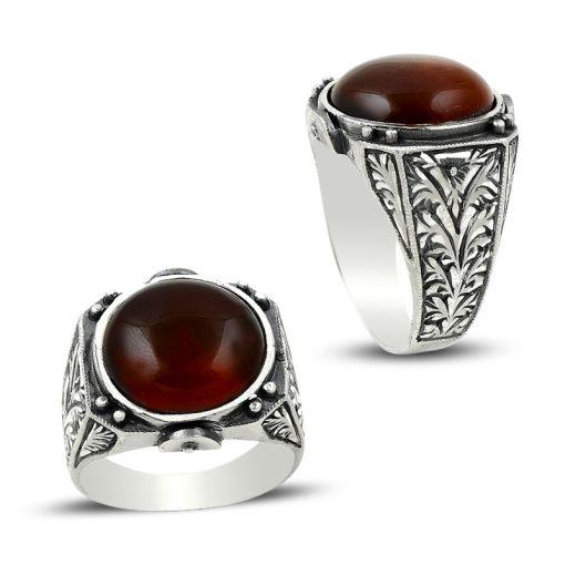 Hand Made Aqeeq Stone Ring
