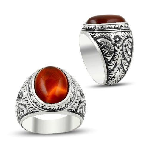 Hand Made Classic Aqeeq Ring