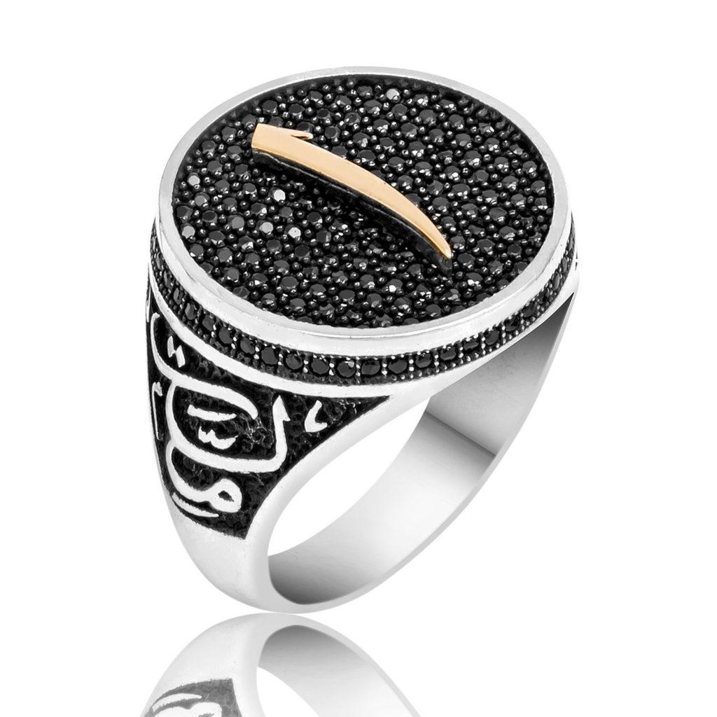 Black swarovski alif ring boutique ottoman jewelry store for Swarovski jewelry online store