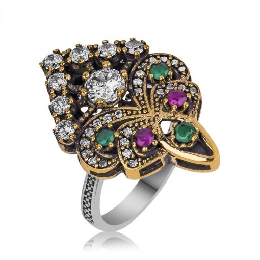 Ottoman Bouquet Classic Silver Ring