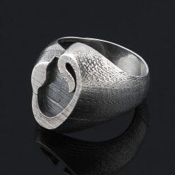 Elif Vav Silver Men Ring