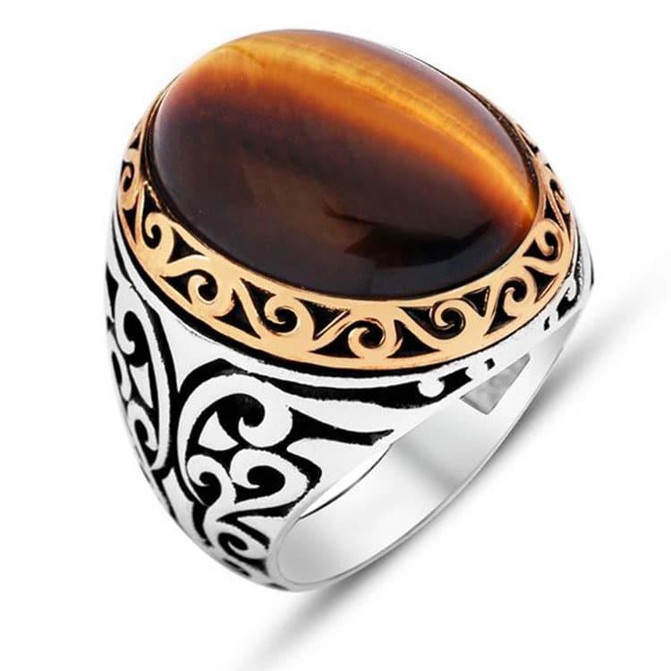 Silver Cats Eye Ring