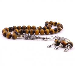 Tiger's Eye Stone Brown Prayer Beads