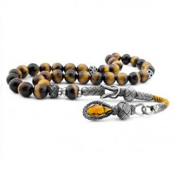 Tiger's Eye Stone Kazaz Brown Prayer Beads