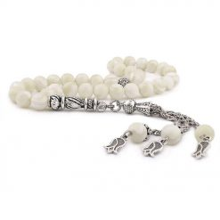 Pearl Stone White Prayer Beads