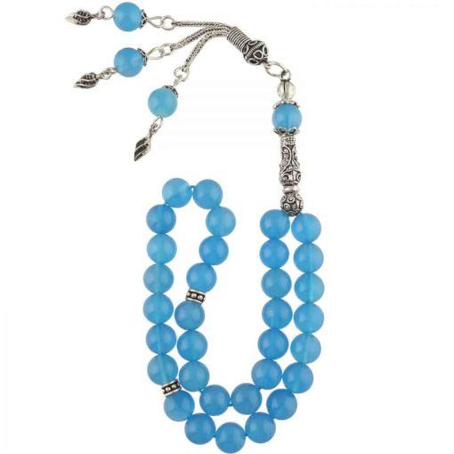 Blue Agate Stone Prayer Beads