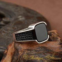 Matte-Black-Square-Onyx-Silver-Mens-Ring-BOM-3027-2-d