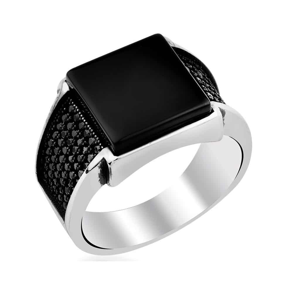 s black square boutique product men ring onyx jewelry store ottoman silver jewellery mens