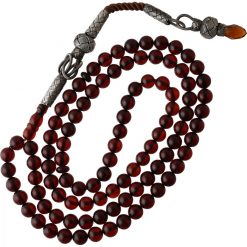 Red Amber Stone 99 Beads Tasbeeh