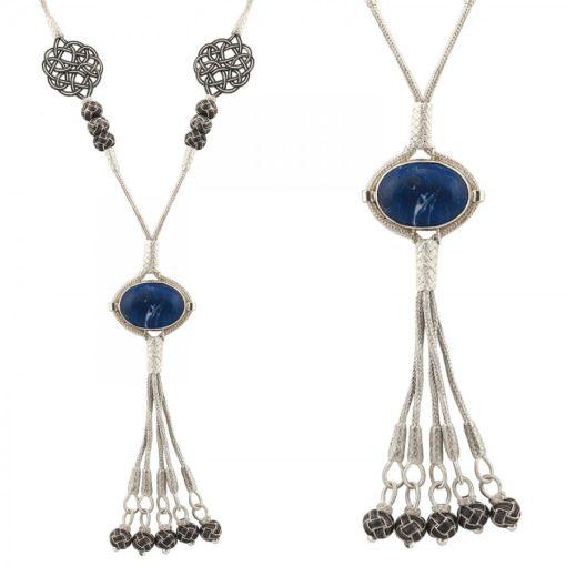 Lapis Stone Kazaz Necklace