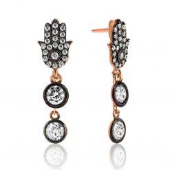 Rose Hand of Fatıma Women Earrings
