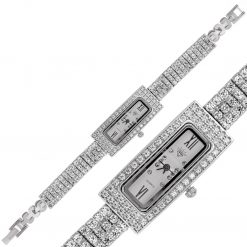 Hand Made Rectangle Silver Watch