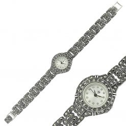 Hand Made Marcasite Silver Watch