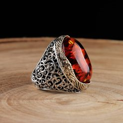 Classic Amber Men Ring