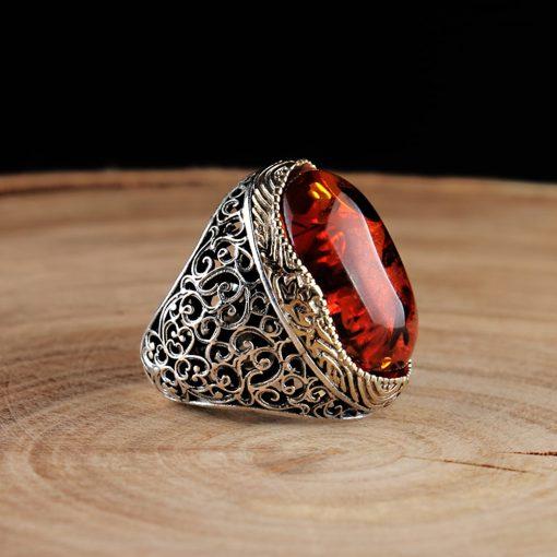 Classic Amber Men Ring