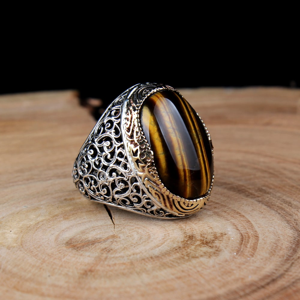 classic tiger s eye ring boutique ottoman jewelry store