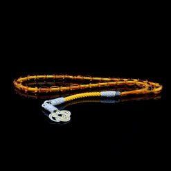 Orange Amber Tasbih With 1000 ct. Silver Kazaz Tassle-TG-1014