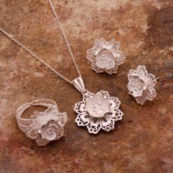 Azalea Filigree Silver Set