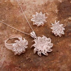 Dahlia Filigree Silver Set