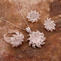 Dahlia Filigree Silver Set