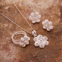 Daisy-2 Filigree Silver Set