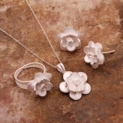Gardenia Filigree Silver Set