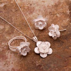 Gardenia Filigree Silver Set