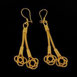 Handmade 1000 Ct. Kazaz Silver Earrings