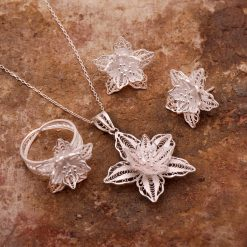 Lily Filigree Silver Set