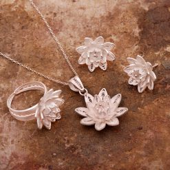 Lotus Filigree Silver Set